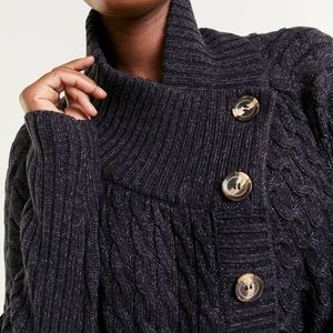 Reitmans large collar knitted cardigan- size L